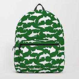 Sharks on Jewel Green Backpack