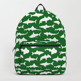 Sharks on Jewel Green Backpack
