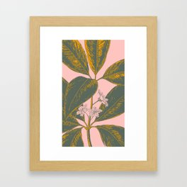 Modern Botanical Banana Leaf Framed Art Print