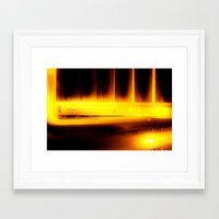 dodgers Framed Art Prints featuring This Way to the Basement by Flattering Images
