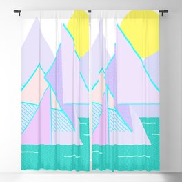 Hello Mountains - Lavender Hills Blackout Curtain