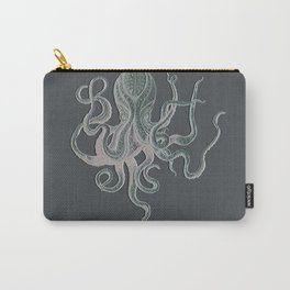 VINTAGE OCTOPUS Negative Grey Carry-All Pouch