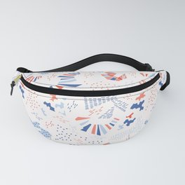 Memphis Style Geometric Abstract Seamless Pattern Fanny Pack
