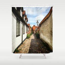 Narrow streets of Ribe Shower Curtain
