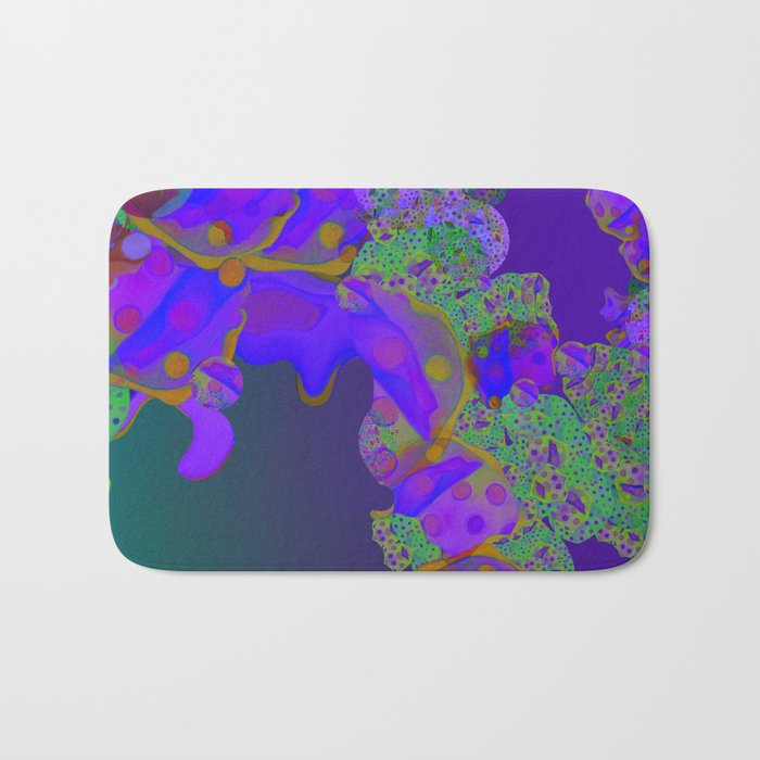 """Be yourself (Pop Fantasy Colorful Pattern 02)"" Bath Mat"