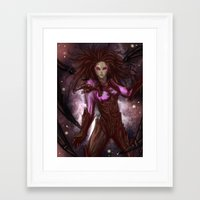 starcraft Framed Art Prints featuring Kerrigan by Midnight Tardis