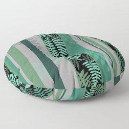 fern design Geometric Stripes II Floor Pillow