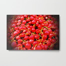 cherries pattern reacstd Metal Print