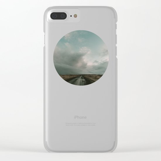 Miles to Go x Iceland Road Clear iPhone Case