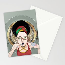 Afrosia getting ready Stationery Cards