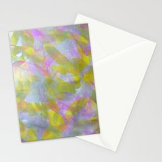 Abstract in Shimmery Pastel Colors Stationery Cards