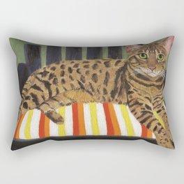 Bengal Cat Rectangular Pillow