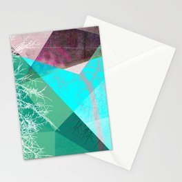 P16-G TREES AND TRIANGLES Stationery Cards
