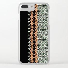Mud Cloth Clear iPhone Case