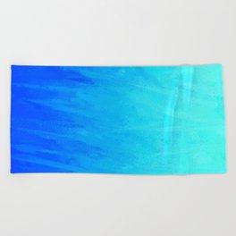 Icy Blue Blast Beach Towel