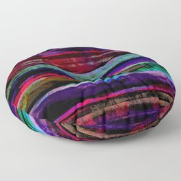 bohemian abstract painting Floor Pillow