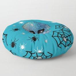 Creepy Crawling Spiders Floor Pillow