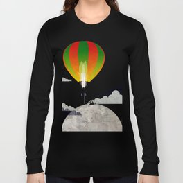 Picnic in a Balloon on the Moon Long Sleeve T-shirt