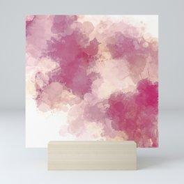 Mauve Dusk Abstract Cloud Design Mini Art Print