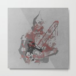 if i only had a chainsaw Metal Print
