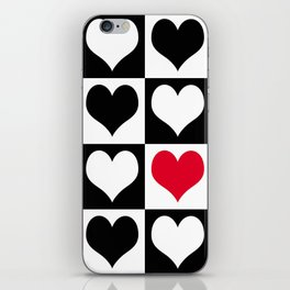 Hearts for you iPhone Skin