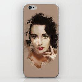 Paint-stroked Portrait: Elizabeth Taylor iPhone Skin