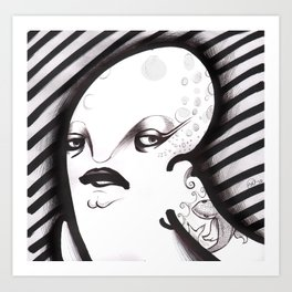 Mrs. Thing Art Print