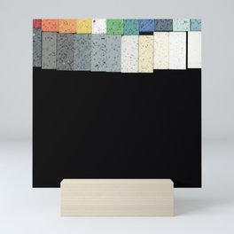 Color Blocks- Gradient Tiled Art Mini Art Print