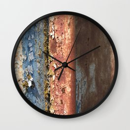 Rusted Train 2 Wall Clock