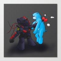 deathstroke Canvas Prints featuring Deathstroke Teddy by Fancy Pants Artistry