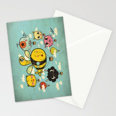 Happy Flight / The Animals Hot Air Balloon Voyagers / Patterns / Clouds Stationery Cards