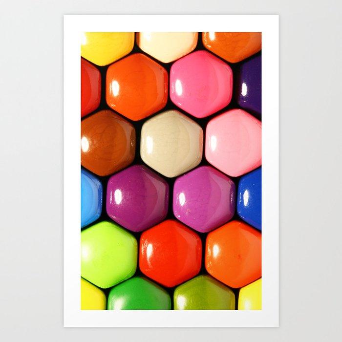 pencil colors Art Print