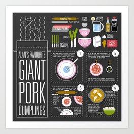 Alan's Favourite Giant Dumplings Art Print