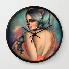 PussyCat OF the Day Of Death. Wall Clock