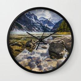 Mirroring Lake Louise Wall Clock