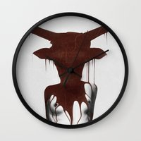 taurus Wall Clocks featuring Taurus by Ruben Ireland