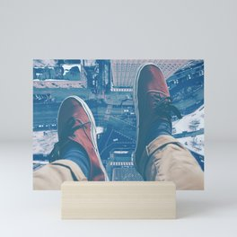 Sat Atop A Skyscraper Mini Art Print