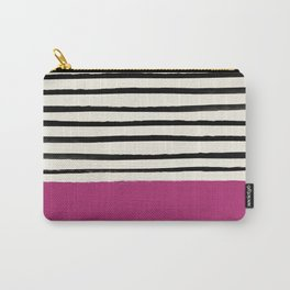 Raspberry x Stripes Carry-All Pouch