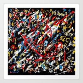 Revol black space Art Print