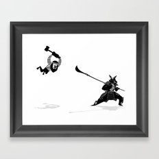 PDX vs TYO Framed Art Print