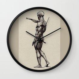 Flayed man, Écorché, Louvre Wall Clock
