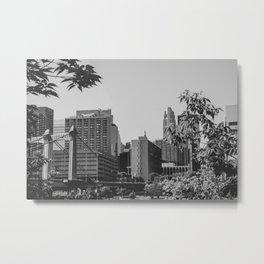 Minneapolis Minnesota Architecture Black and White Metal Print