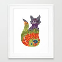 alice in wonderland Framed Art Prints featuring Wonderland by Heather Searles