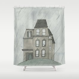 Gloomy Mansion from Kayla's Spanish Storybook Shower Curtain