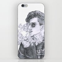 alex turner iPhone & iPod Skins featuring Alex Turner by Anja-Catharina