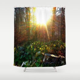 'Pouring Morning Sunshine' Shower Curtain