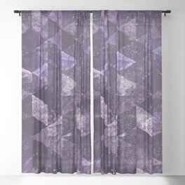 Abstract Geometric Background #27 Sheer Curtain