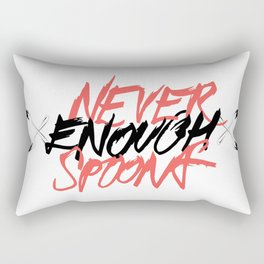 Never Enough Spoons Rectangular Pillow