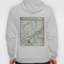 Ocracoke Inlet Map - Blackeard's Anchoring (1733) Hoody