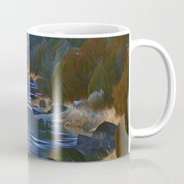 Rio Grande at the John Dunn Bridge on a Winters Day by CheyAnne Sexton Coffee Mug